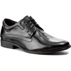 Półbuty LASOCKI FOR MEN - MB01-PRIMO-02 Czarny. Czarne buty wizytowe męskie Lasocki For Men, ze skóry. Za 189,99 zł.