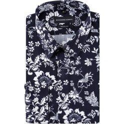 Koszula SIMONE KDWR000193. Czarne koszule męskie na spinki marki Giacomo Conti, m, z bawełny, z klasycznym kołnierzykiem. Za 199,00 zł.