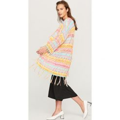 Sweter z frędzlami - Wielobarwn. Szare swetry klasyczne damskie Reserved, m. Za 99,99 zł.