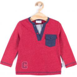Koszulka. Czerwone t-shirty chłopięce z długim rękawem REBELS, z aplikacjami, z bawełny. Za 34,90 zł.