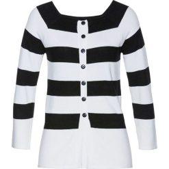 Sweter bonprix czarno-biały. Szare swetry klasyczne damskie marki Molly.pl, do pracy, l, biznesowe, z asymetrycznym kołnierzem, midi. Za 79,99 zł.
