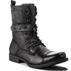 Kozaki KAZAR - Tadeu 27473-27-A2 Black. Czarne buty zimowe męskie Kazar, z materiału, z paskami. Za 599,00 zł.