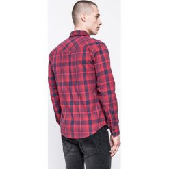 Levi's - Koszula. Brązowe koszule męskie na spinki marki Levi's®, l, w kratkę, z bawełny, button down, z długim rękawem. W wyprzedaży za 149,90 zł.