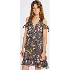 Morgan - Sukienka. Brązowe sukienki mini marki Morgan, na co dzień, m, z poliesteru, casualowe, proste. W wyprzedaży za 249,90 zł.