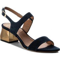 Rzymianki damskie: Sandały BALDOWSKI – D02013-8118-002 Zamsz Granat Top Blue