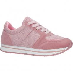 Różowe buty sportowe sznurowane Casu HR61225. Czerwone buty sportowe damskie Casu. Za 39,99 zł.