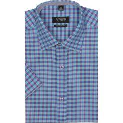 Koszule męskie na spinki: koszula bexley 2380 krótki rękaw custom fit fiolet