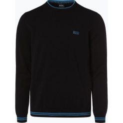 Swetry klasyczne męskie: BOSS Athleisure – Sweter męski – Rime_S18, czarny