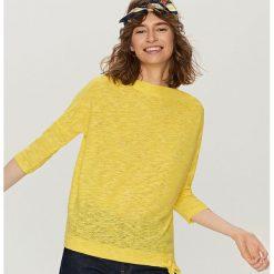 Melanżowy sweter - Żółty. Żółte swetry klasyczne damskie marki Mohito, l, z dzianiny. W wyprzedaży za 39,99 zł.