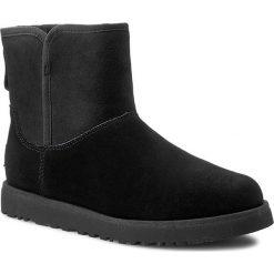 Buty UGG - W Cory 1013437  Black. Szare buty zimowe damskie marki Ugg, z materiału, z okrągłym noskiem. W wyprzedaży za 559,00 zł.