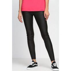 Spodnie damskie: Czarne Spodnie We Don't Care