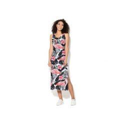Sukienka CP-025  269. Różowe długie sukienki Colour pleasure, l, z dzianiny, na ramiączkach. Za 159,00 zł.