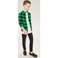 Odzież dziecięca: Flanelowa koszula w kratę – Zielony