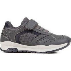 """Sneakersy """"Cordian"""" w kolorze szarym. Niebieskie trampki chłopięce marki geox kids, z gumy. W wyprzedaży za 125,95 zł."""
