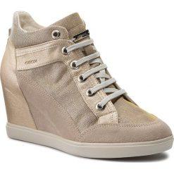 Sneakersy GEOX - D Eleni C D7267C 022EW CH69H Lt Taupe/Lead. Brązowe sneakersy damskie Geox, z materiału. W wyprzedaży za 389,00 zł.
