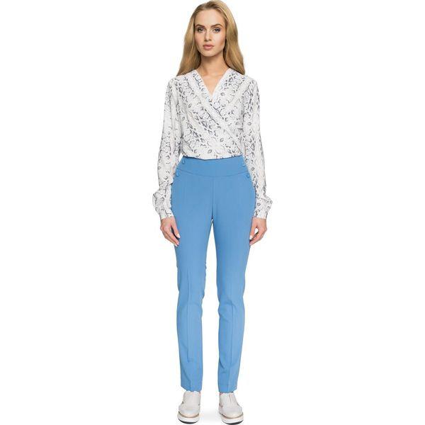 4415ab0fb04e72 Niebieskie spodnie damskie z wysokim stanem - Promocja. Nawet -60%! -  Kolekcja lato 2019 - myBaze.com