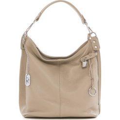 Torebki klasyczne damskie: Skórzana torebka w kolorze beżowym – 30 x 30 x 12 cm