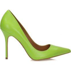Buty ślubne damskie: Zielone czółenka damskie
