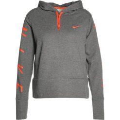 Bluzy rozpinane damskie: Nike Performance DRY HOODIE GRAPHIC Bluza z kapturem charcoal heather/dark grey/hyper crimson