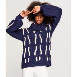 Sweter z golfem - Granatowy. Niebieskie golfy damskie marki Reserved, l. Za 139,99 zł.