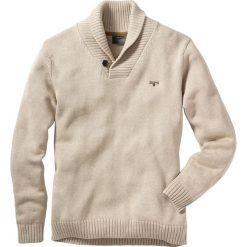 Swetry klasyczne męskie: Sweter Regular Fit bonprix naturalny melanż