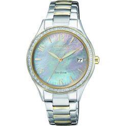 ZEGAREK CITIZEN Lady EO1184-81D. Białe, analogowe zegarki damskie CITIZEN, sztuczne. Za 790,00 zł.
