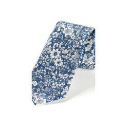 Krawat męski ROTA NIEBIESKI. Niebieskie krawaty męskie HisOutfit, z materiału. Za 129,00 zł.