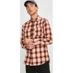 Jack & Jones - Koszula. Różowe koszule męskie na spinki Jack & Jones, l, w kratkę, z bawełny, z włoskim kołnierzykiem, z długim rękawem. W wyprzedaży za 139,90 zł.