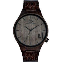 Zegarek Giacomo Design Drewniany męski  GD08702. Czarne zegarki męskie Giacomo Design. Za 385,00 zł.