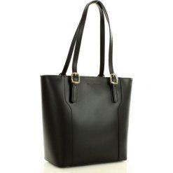 Shopper bag damskie: Torebka na ramię skórzana MARCO MAZZINI czarna
