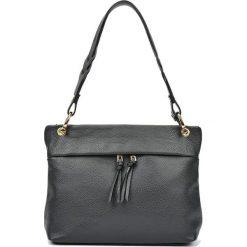 Torebki i plecaki damskie: Skórzana torebka w kolorze czarnym – (S)33 x (W)25 x (G)10 cm