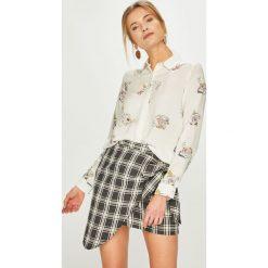 Answear - Koszula. Szare koszule damskie ANSWEAR, l, z tkaniny, casualowe, z włoskim kołnierzykiem, z długim rękawem. Za 149,90 zł.