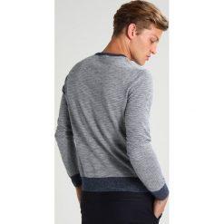 Swetry klasyczne męskie: J.CREW THIN STRIPE Sweter heather indigo
