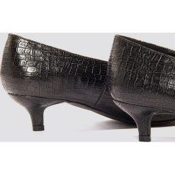 Buty ślubne damskie: NA-KD Shoes Niskie czółenka Plunge - Black
