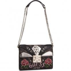 Torebka GUESS - HWLF71 83210 BLACK MULTI. Czarne torebki klasyczne damskie Guess, z aplikacjami, ze skóry ekologicznej. Za 679,00 zł.