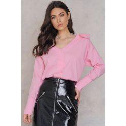 Trendyol Koszula z ozdobną siateczką - Pink. Różowe koszule damskie marki Trendyol, z bawełny. W wyprzedaży za 36,59 zł.