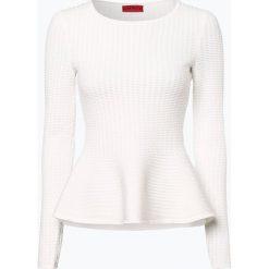 HUGO - Sweter damski – Shoma, beżowy. Brązowe swetry klasyczne damskie HUGO, xl. Za 699,95 zł.