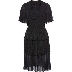 Sukienki: Sukienka z falbanami bonprix czarno-srebrny