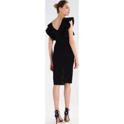 Sukienki hiszpanki: WAL G. V NECK FRILL SLEEVE MIDI  Sukienka etui black