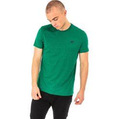 4f Koszulka męska H4L18-TSM002 zielona r. M. Białe koszulki sportowe męskie marki Adidas, l, z jersey, do piłki nożnej. Za 27,47 zł.