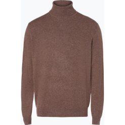 Golfy męskie: Andrew James – Sweter męski z czystego kaszmiru, brązowy