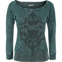 Rock Rebel by EMP Come On Get It Bluza damska zielony. Zielone bluzy rozpinane damskie Rock Rebel by EMP, s, z aplikacjami, prążkowane. Za 74,90 zł.