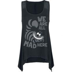 Odzież damska: Alicja w Krainie Czarów Grinsekatze - Mad Here Top damski czarny