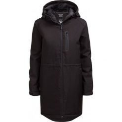 Kurtka miejska damska KUD607 - CZARNY - Outhorn. Czarne kurtki damskie pikowane Outhorn, na jesień, m, z materiału, z kapturem. W wyprzedaży za 230,99 zł.