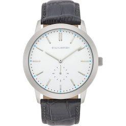 Biżuteria i zegarki: Zegarek kwarcowy w kolorze antracytowo-srebrno-białym