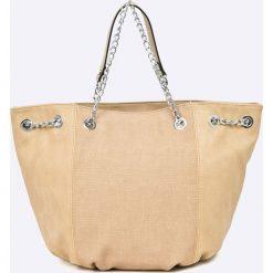 Answear - Torebka. Brązowe torebki klasyczne damskie marki ANSWEAR, z materiału. W wyprzedaży za 69,90 zł.