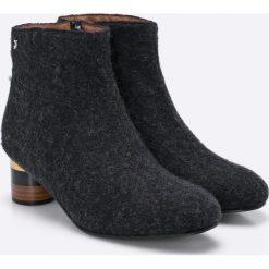 Gioseppo - Botki Gris. Czarne buty zimowe damskie Gioseppo, z materiału. W wyprzedaży za 139,90 zł.