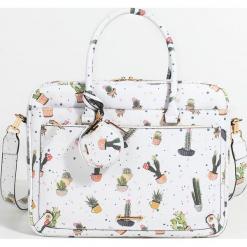 Parfois - Torebka. Szare torby na laptopa marki Parfois, w paski, z materiału. Za 149,90 zł.