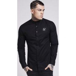 Koszule męskie na spinki: SIKSILK OXFORD STRETCH FIT Koszula jet black