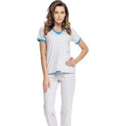 Piżamy damskie: Piżama w kolorze szaro-niebieskim
